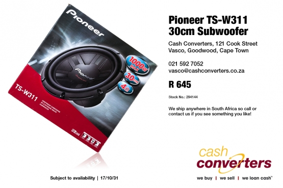 Pioneer TS-W311 30cm Subwoofer