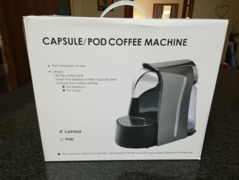 Capsule coffee machine brand new