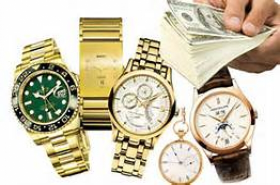 Gold watches for cash