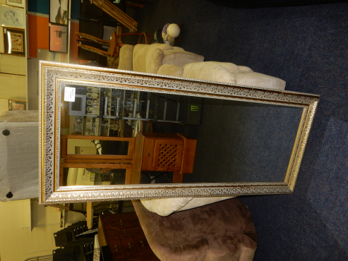 Large Gold Upright Mirror