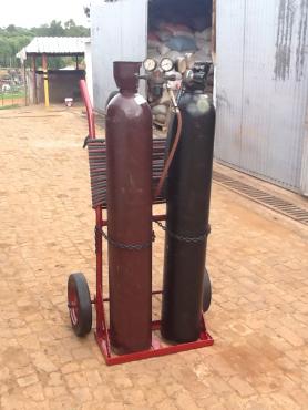 gas bottle set trolley complete