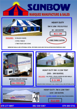 BEST TENTS FOR SALE, COLDROOMS FOR SALE, TOILETS FOR SALE