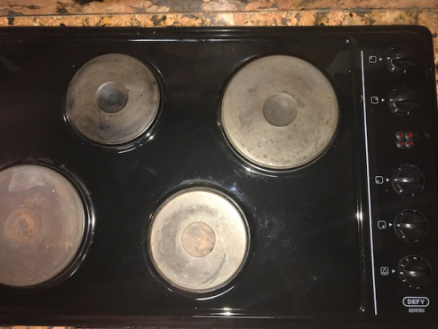 Defy, stove, eye level oven with warmer and hub