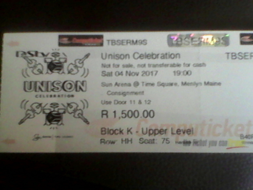 Unison Celebration Show Tickets!