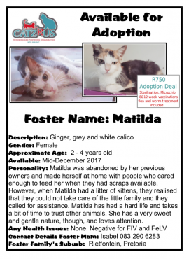 Matilda. This mom ca