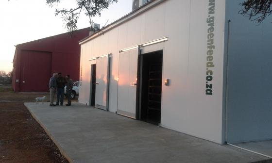 Organic animal feed grow rooms