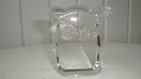 Paperweight - crystal d'arques owl