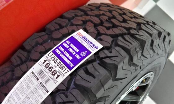 BF Goodrich tyres