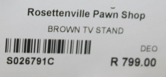 Brown tv stand S026791c #Rosettenvillepawnshop