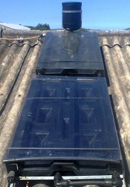 Very affordable, long life, 40 years plus. D.I.Y., simple to install, 80 liter solar water heater.