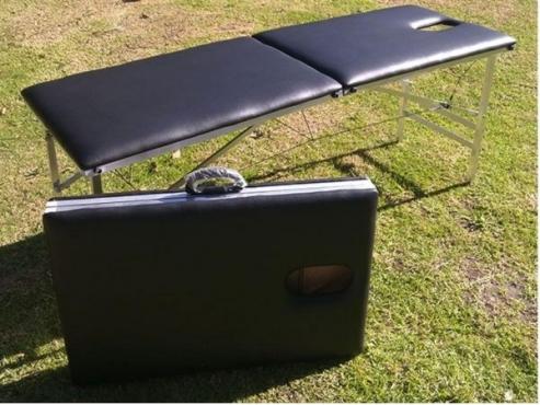 Portable foldable metal massage table