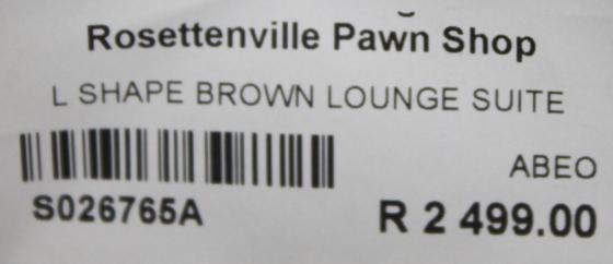 Lshape lounge suite S026765a #Rosettenvillepawnshop