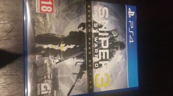 PS4 game: Sniper 3 Ghost warrior