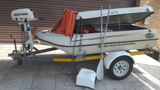 Boat Traier Combination with 3HP Outboad Motor