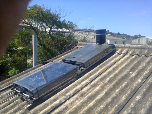 Very affordable, long life, 40 years plus. D.I.Y., simple to install, 80 liter solar water heater