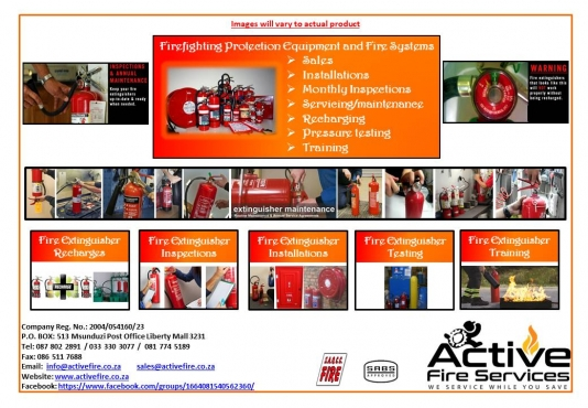 Active Fire Services: Fire Equipment sales, servicing & installation