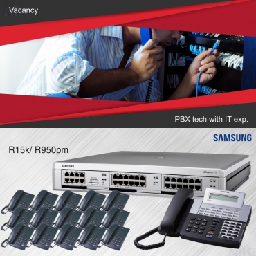Samsung PABX Telephone systems / Vacancy available for a PABX Tech