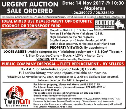 URGENT AUCTION - DEVELOPMENT OPPORTUNITY, STORAGE OR TRANSPORT YARD