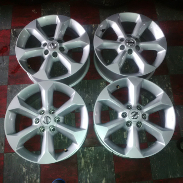 Original 17 Inch Nissan Navara Rims With Brand New Goodyear Wringler H/p All weather For R11999