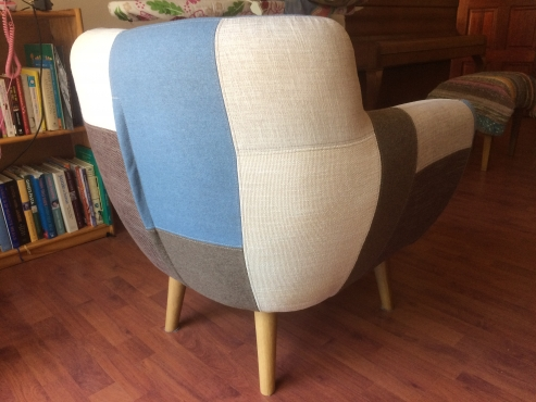 Patchy tub chair | Junk Mail