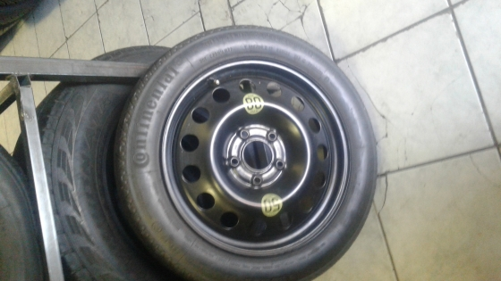 Bmw spare wheel marrie biscuit tyre size17