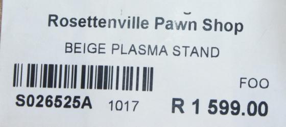 Beige plasma stand S026525a #Rosettenvillepawnshop