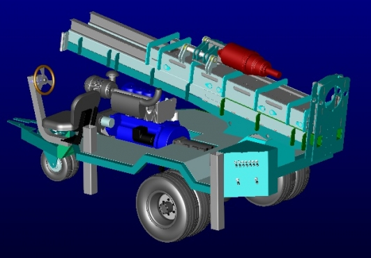 Compact 3000-4T Bakkie Trailer Borehole Drilling Rig