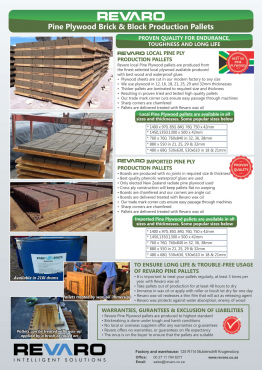 Brick making pallets