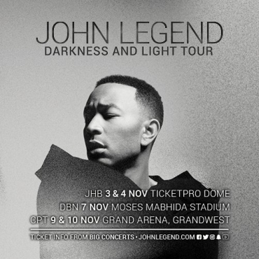 John Legend 5Nov Jhb tix R440 each