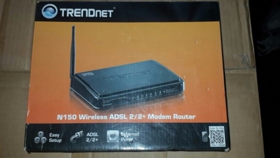 Trendnet adsl router in box with cables & cd & manuals in good working order & condition-,unused