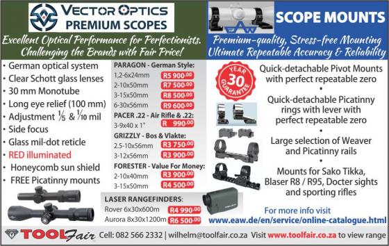 Scopes by Vector Optics Premium brand