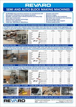 Brick making machines static automatic