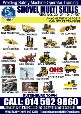 DRILL RIG TRAINING cOURSES SHOVEL MULTI SKILLS TRAINING 0765495365