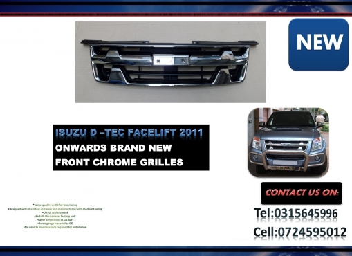 Isuzu D TEQ Facelift 2011 onwards New Front Grille chrome PRICE: R 1295