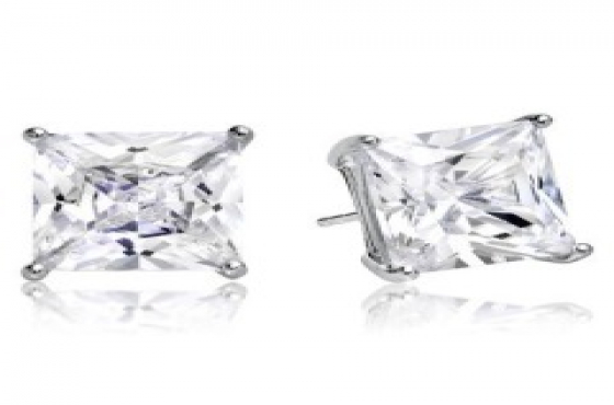 5MM SQUARE CUBIC ZIRCONIA STUD EARRINGS