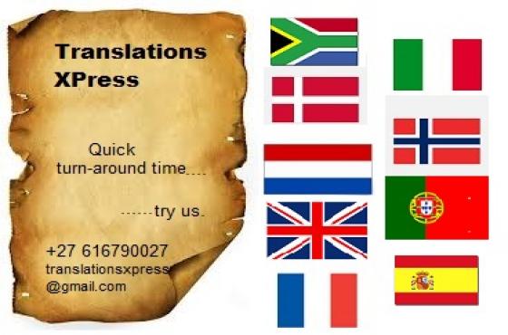 Translators Revisors, Certified & Non (International)