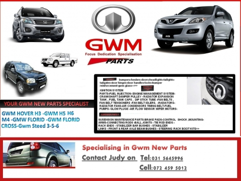 Specialising in Gwm Automotive New parts