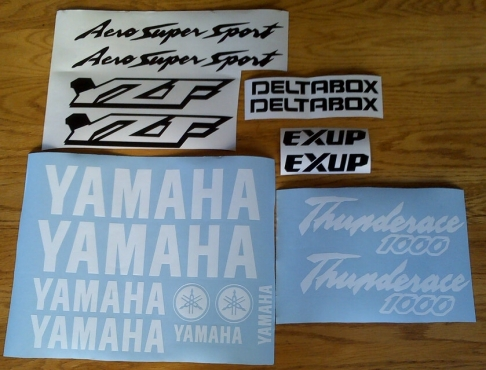 Yamaha thunderace and thundercat YZF decals stickers graphics kits