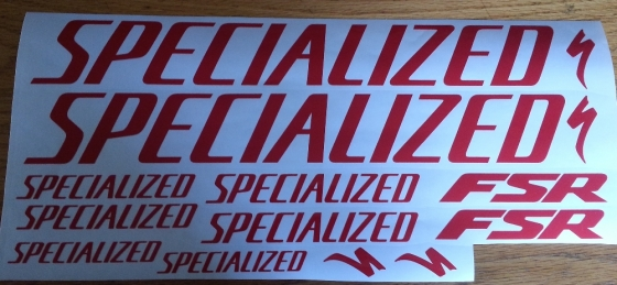 Specialized frame graphics decals stickers kits