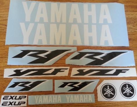 Yamaha R1 decals stickers graphics kits
