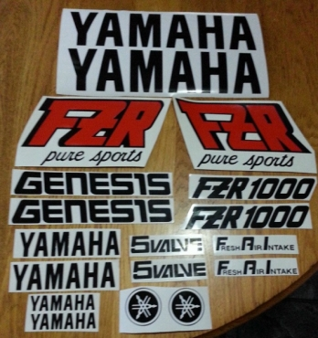 Yamaha FZR decals stickers graphics kits for all models