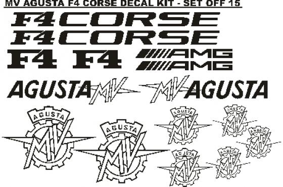 MV Agusta decals graphics fairing stickers kits