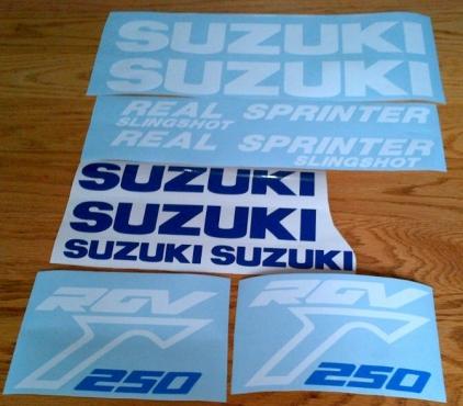Suzuki GSXR / SRAD / K models decals stickers graphics kits