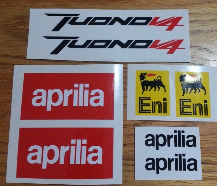 Decals stickers graphics kits for all aprilia motorcycles