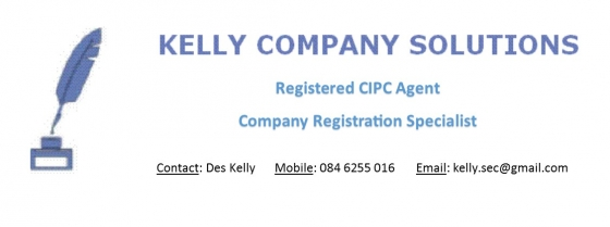 Company Registrations, Annual Returns, CIPC Disclosures, Company Name Changes, Electronic Transfers,