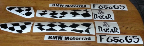 F650 GS graphics sets decals stickers