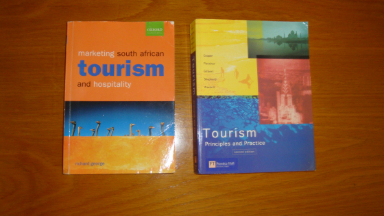 Textbooks for Tourism Management course X 2