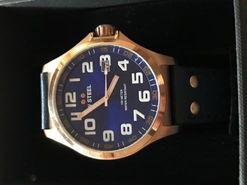 Brand New TW Steel 45mm Rose Gold Pilot Watch