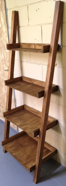 Display unit leaning ladder Cottage series 1800 Four tier Stained