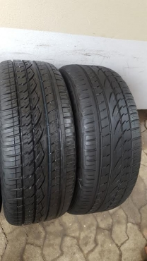 Two 255/50/20 Continental Cross Contact UHP Tyres fits RR Big Body and Disco 4